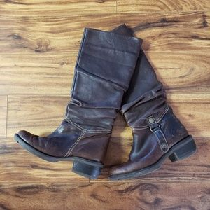 Eric Michael Leather Moto Boots. Sz36